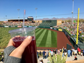 My Emotional Support Sangria at the Diamondbacks Spring Training.